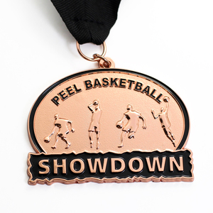 Wholesale Cheap Custom Metal Red Bronze Sport Medal