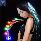 T-Worthy Party Favors LED Light Colorful Luminescence Butterfly Braid Optical Fiber Hairpin