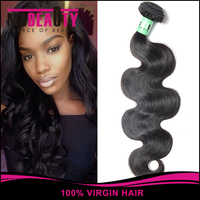 Natural Black Body Wave Brazilian Human Hair Weaving, Virgin Brazilian Hair wig