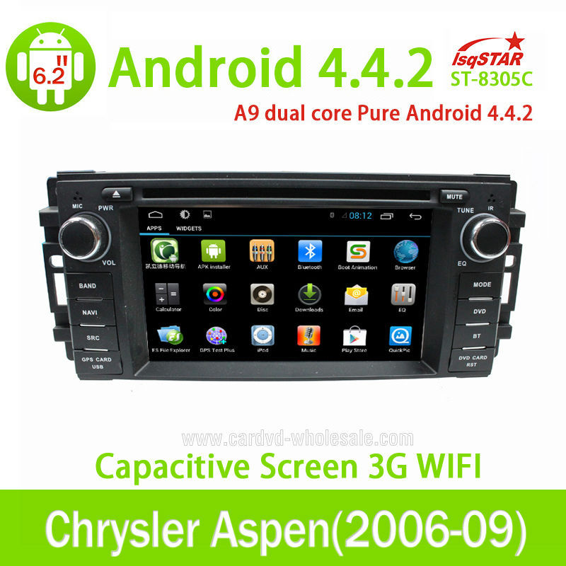 With Smart Phone Mirror Link for Jeep Wrangler Android 4.4.2 car dvd player With Gps navigation