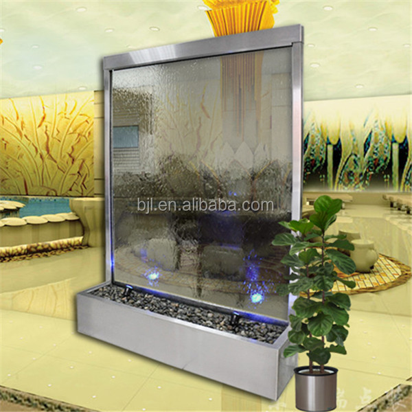 Exterior glass wall indoor waterfalls for homes artificial waterfalls