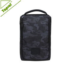 High Quality Waterproof Golf Shoe Bag with Neoprene Comfort Grip Handle