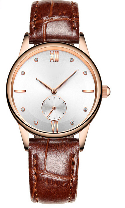 Oem new trending geniue leather strap watch for mens