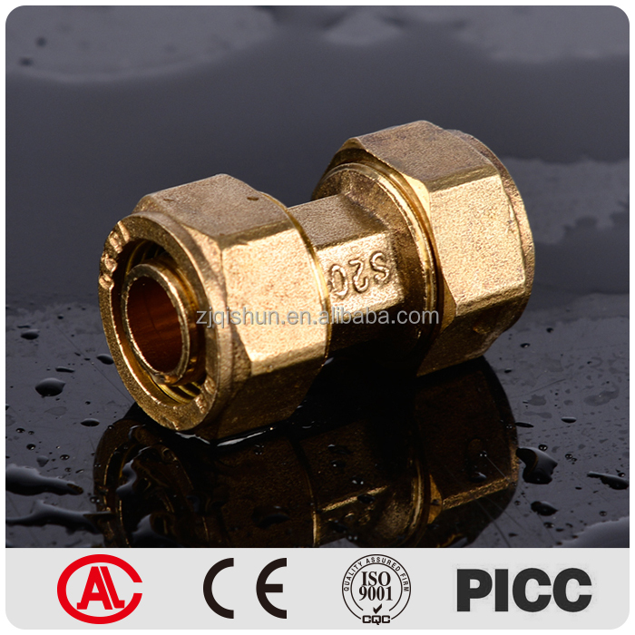 Compression Water Plumbing PEX AL PEX Pipe Fitting Brass Coupling