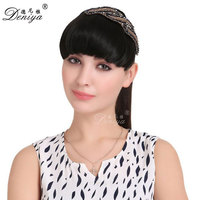 False Bang Neat Fringe Hairpiece Clip in Hair Extensions Head Bangs