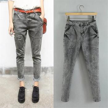 Z92852a 2017 European New Collection Women Long Jeans Pants,Ladies