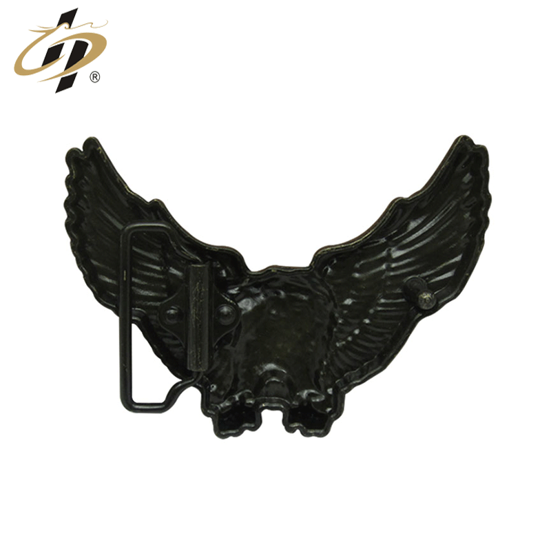 Custom antique bronze zinc alloy metal 3d eagle men belt buckles