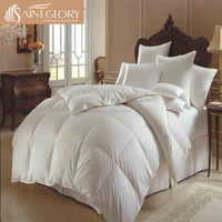 Wholesale white goose feather down comforter goose down quilt down-proof fabric cover twin size comforter