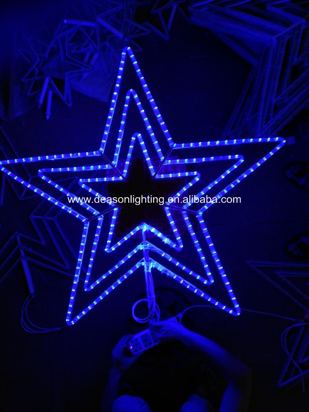 Outdoor led flashing christmas rope light shooting star