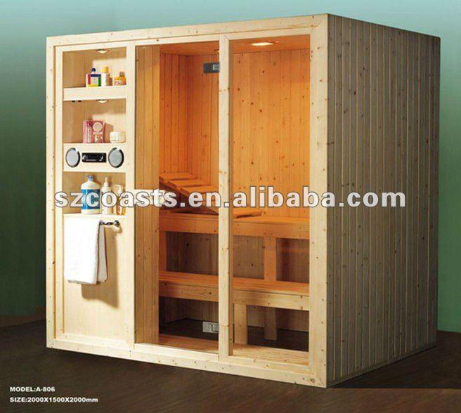 Tradicional a 806 sauna de pino blanco cedro rojo o - Productos para sauna ...