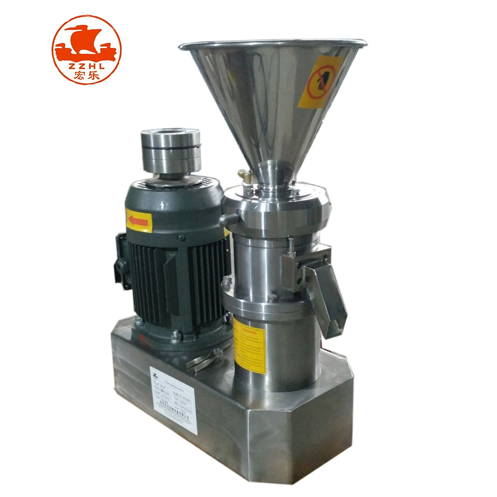 Erdnussbutter, die Maschine 40kg pro Stunde herstellt automatischer ununterbrochener Sesam-Kakao-industrielle Kokosnuss-Mandel-Schibaumahari-Milch