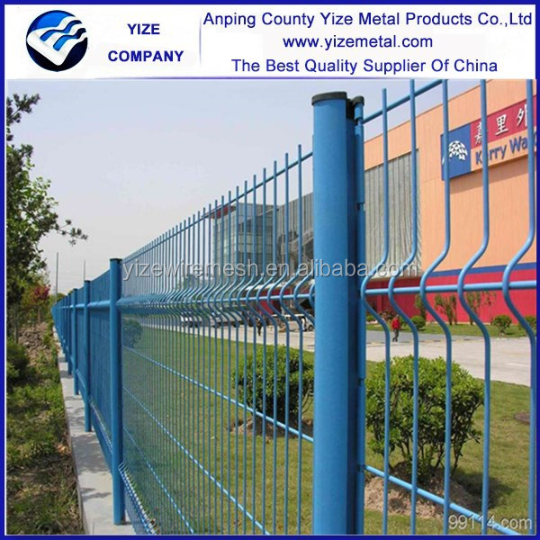 2.5m Width Curves Pvc Portable Fence Panels/powder Coated Green ...