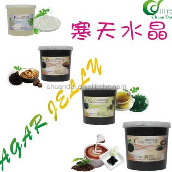 Taiwan Bubble Tea Green Tea Ager Jelly