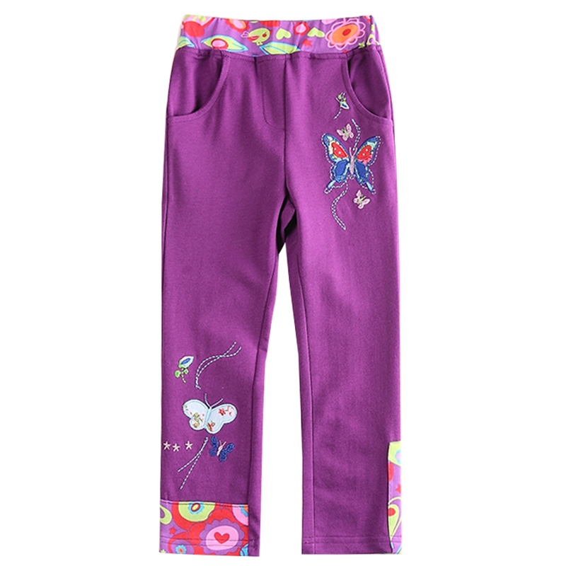 wholesale girls pants children clothing butterflies embroidery casual children pants nova kids clothes girls clothing G5905