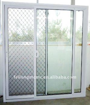 Aluminium glass security mesh of sliding door buy for Buy screen door