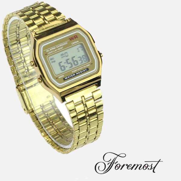 New Fashion gold silver Couple Watch digital watch square military men/ women dress sports watches
