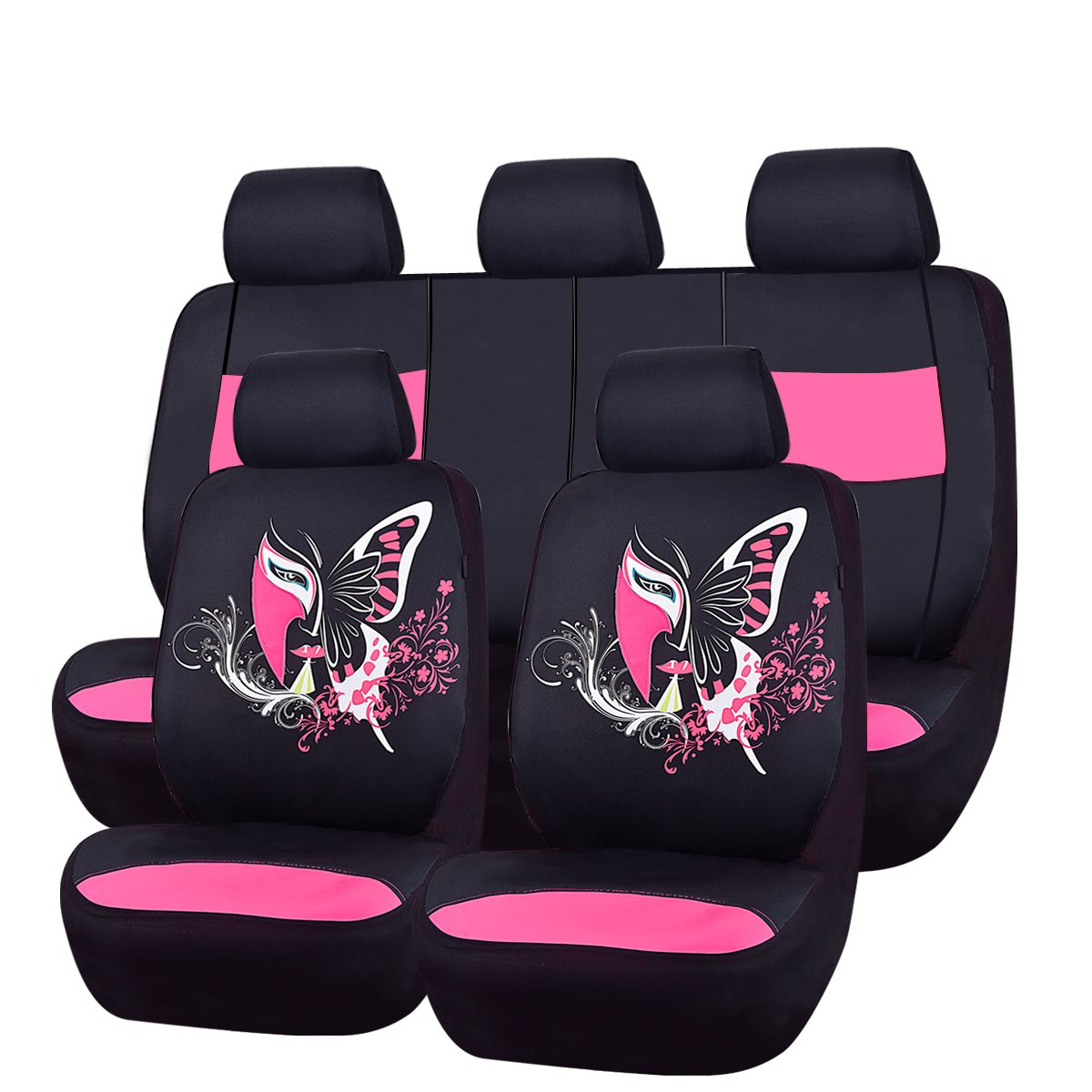 NEW ARRIVAL CAR PASS 11PCS Insparation Universal Seat Covers Set Package Fit For