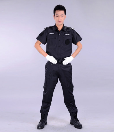 3764211b Black Men Security Guard Dress/ Uniform - Buy Security Guard Dress ...