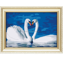 wholesale abstract swan diy crystal diamond painting