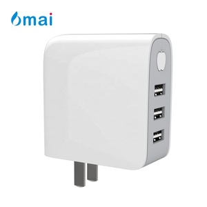 6mai 4A 20W 3-Port AU US EU UK Foldable Plug AC Adapter Quick USB Travel Wall Charger with Smart Auto Power-off Technology