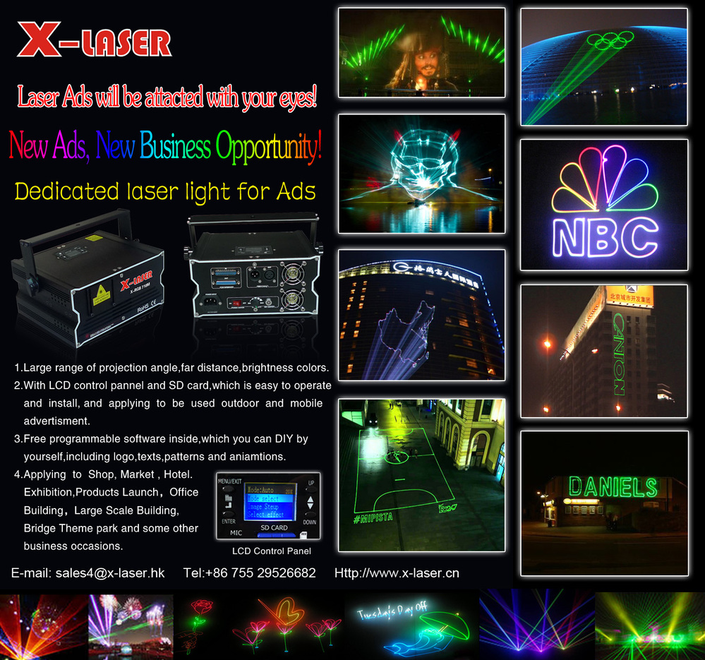 Outdoor Advertisement Laser Light ,text Laser Projector,programmable Laser  Projector Christmas Lights