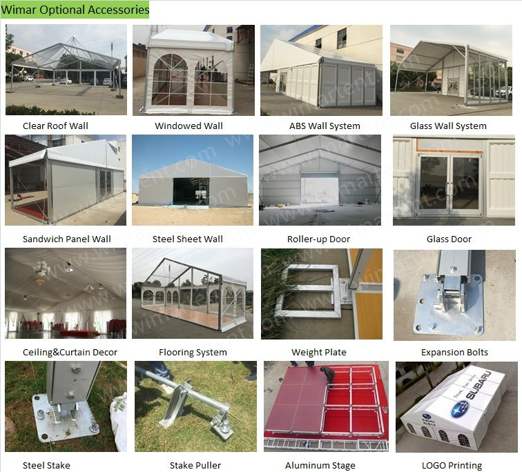 China Supplier 10mx15m Aluminum Structure Logistic Canopy