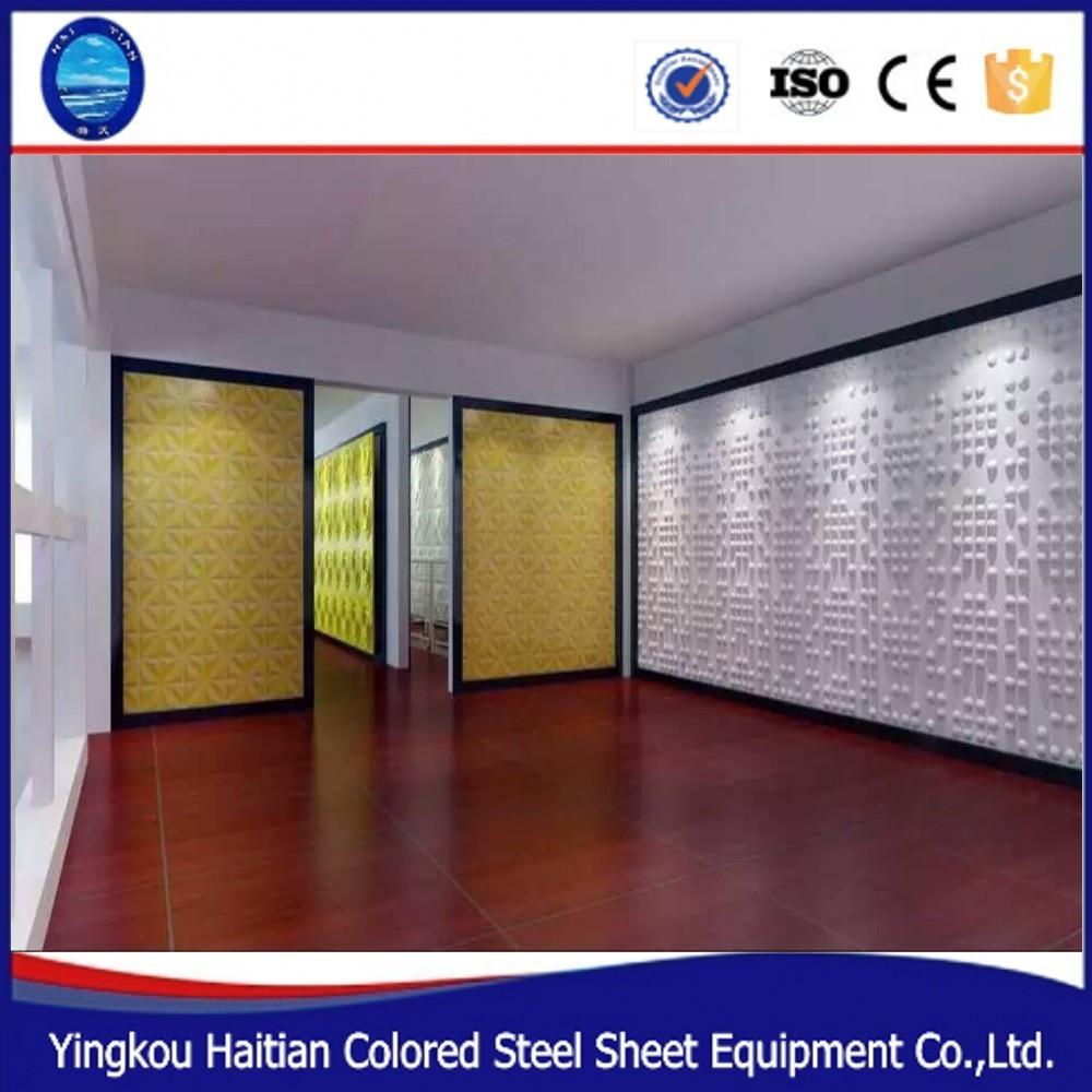 En forma de pir mide 3d material pvc paredes panel para el for Papel pintado aislante termico
