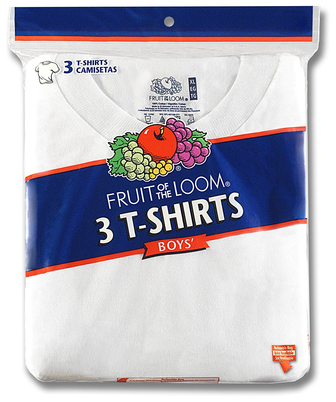 Fruit of the Loom Big Boys Crew Neck Tee #525b