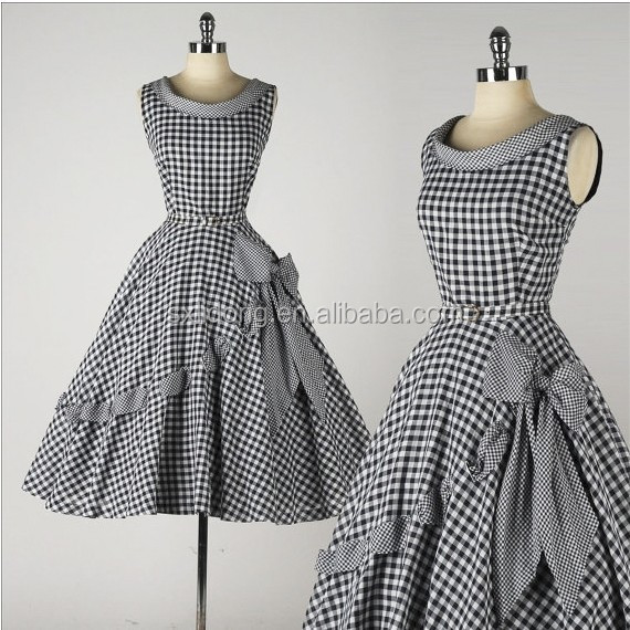 50 s 60 s Swing Pinup Vintage Rockabilly Retro Big bowknot Vestito Da Cocktail