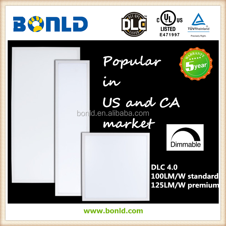 UL DLC Listed 2x4 Flat Panel LED Light 60W Dimmable with 5 Years Warranty.png