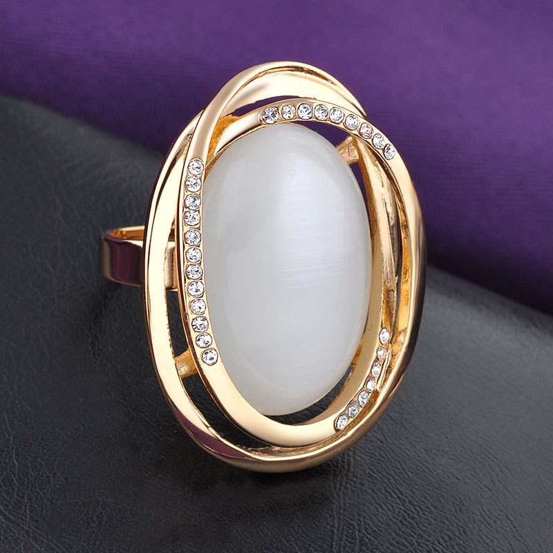Wholesale price jewelry big opal stone ring gold rings design for
