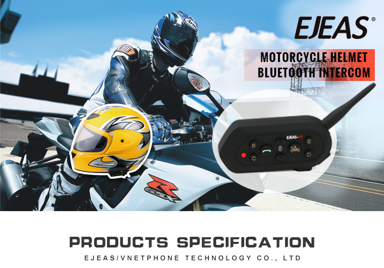 2019 New speaker motorcycle helmet bluetooth to helmet intercom communication
