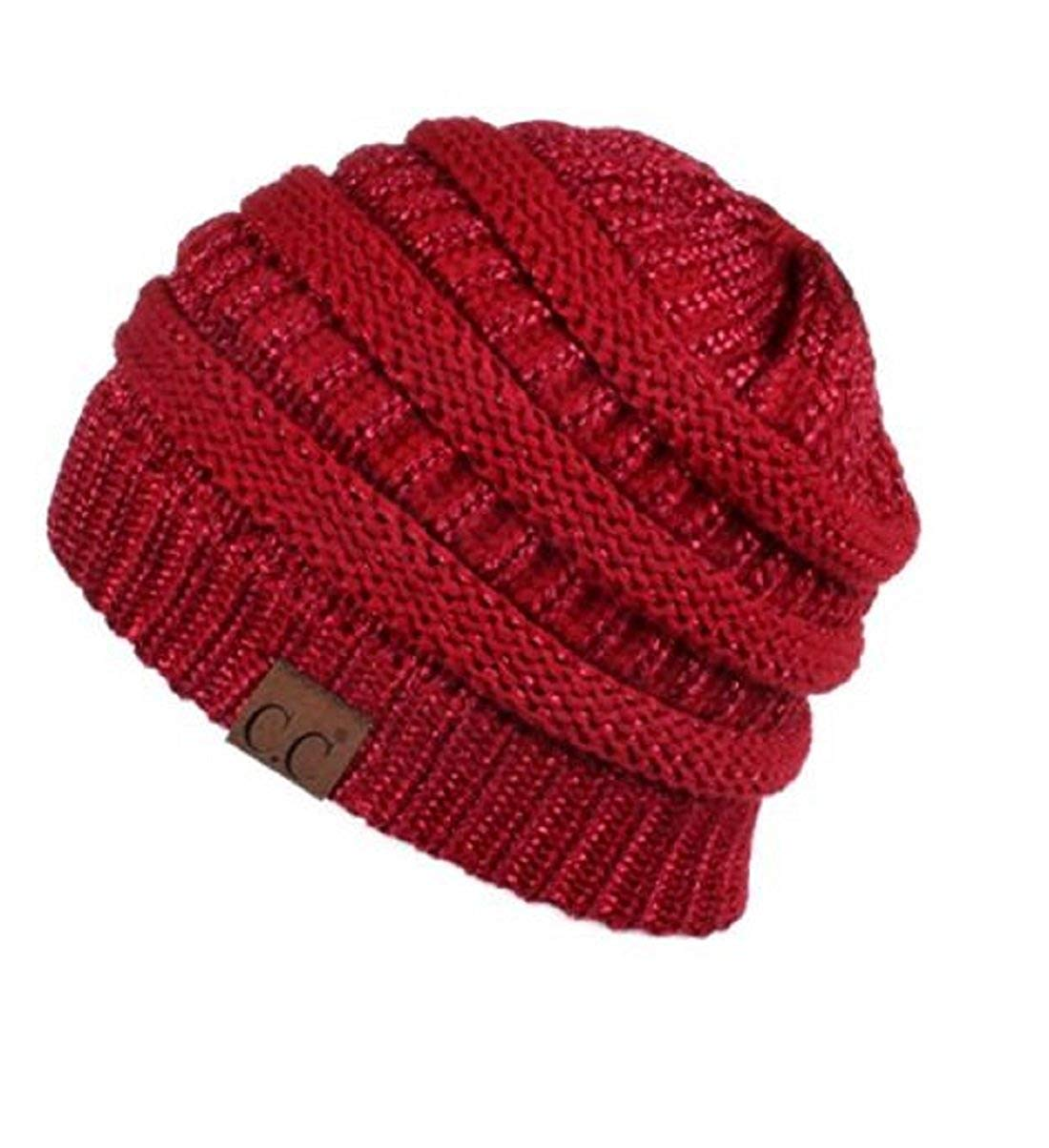 afa50e171b9 Get Quotations · Beanie Toque Hats Soft Stretch Knit Slouchy for Women  Winter Warm Chunky Oversized Trendy Solid