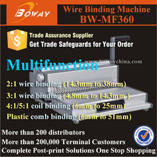 Combine comb wire coil binding functions into one unit wiro binding machine