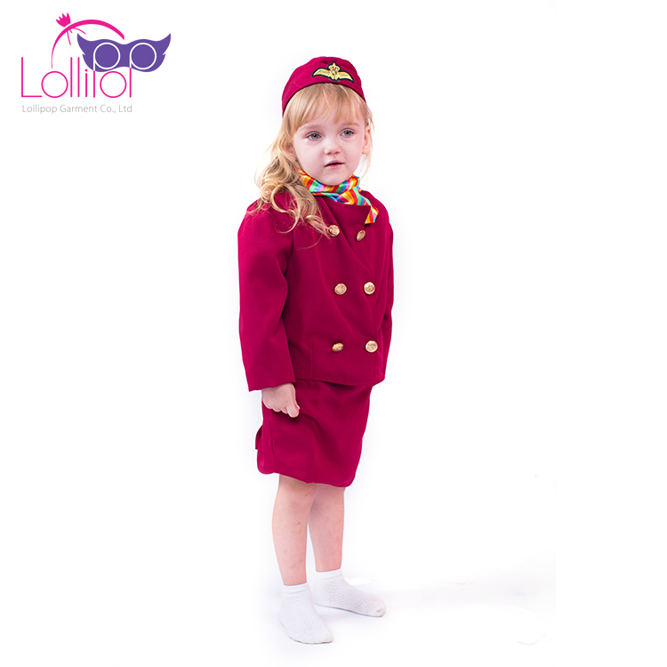 Halloween Carnival Girls Flight Attendant Role Play Outfits Costume