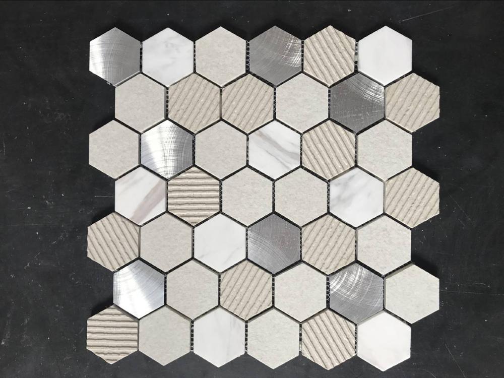 Corpo pieno di texture di pietra mosaico di piastrelle a parete