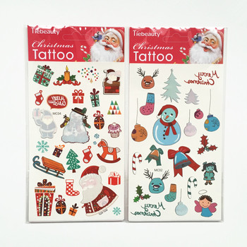 new selling christmas temporary tattoo decoration for christmas eve activities - Christmas Eve Activities