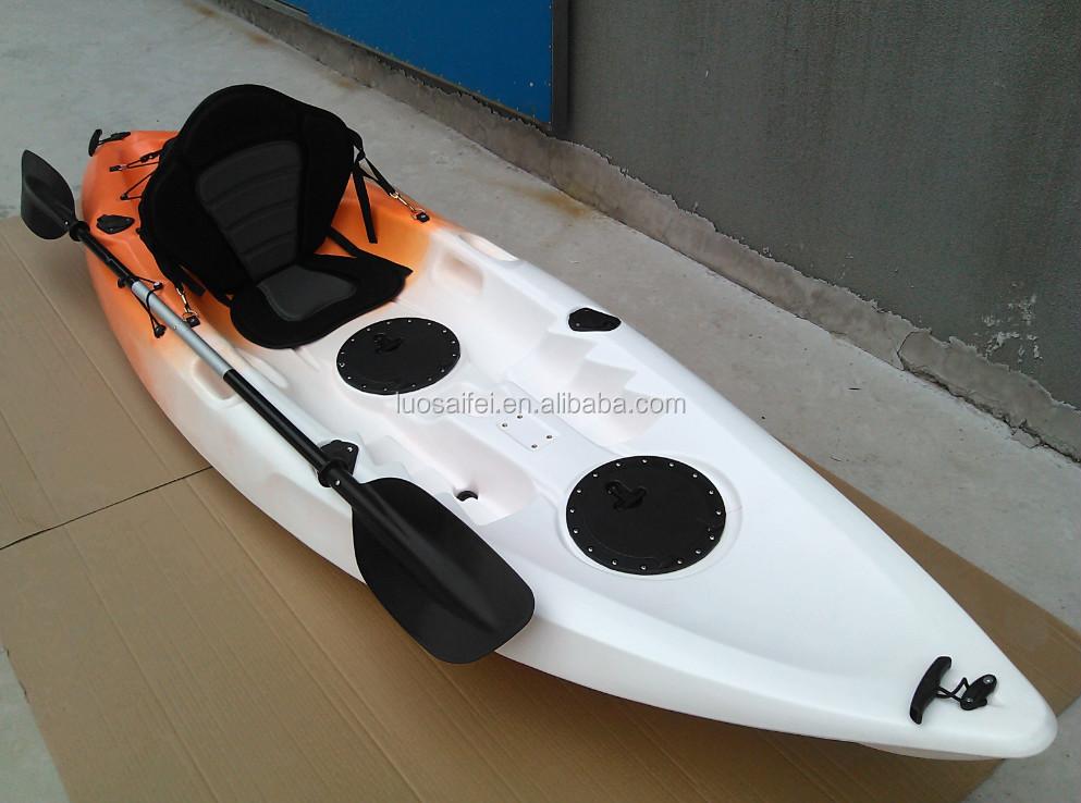 Single Fishing Kayak Sit On 4 Rod Holders Ocean Sea Canoe ...