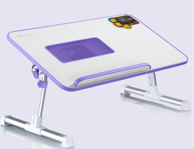 multifunctional portable adjusted bed standing laptop desk with fans