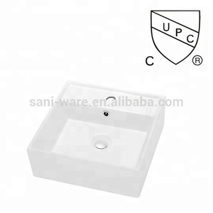 Bathroom Single Faucet Hole Porcelain Vessel Sink