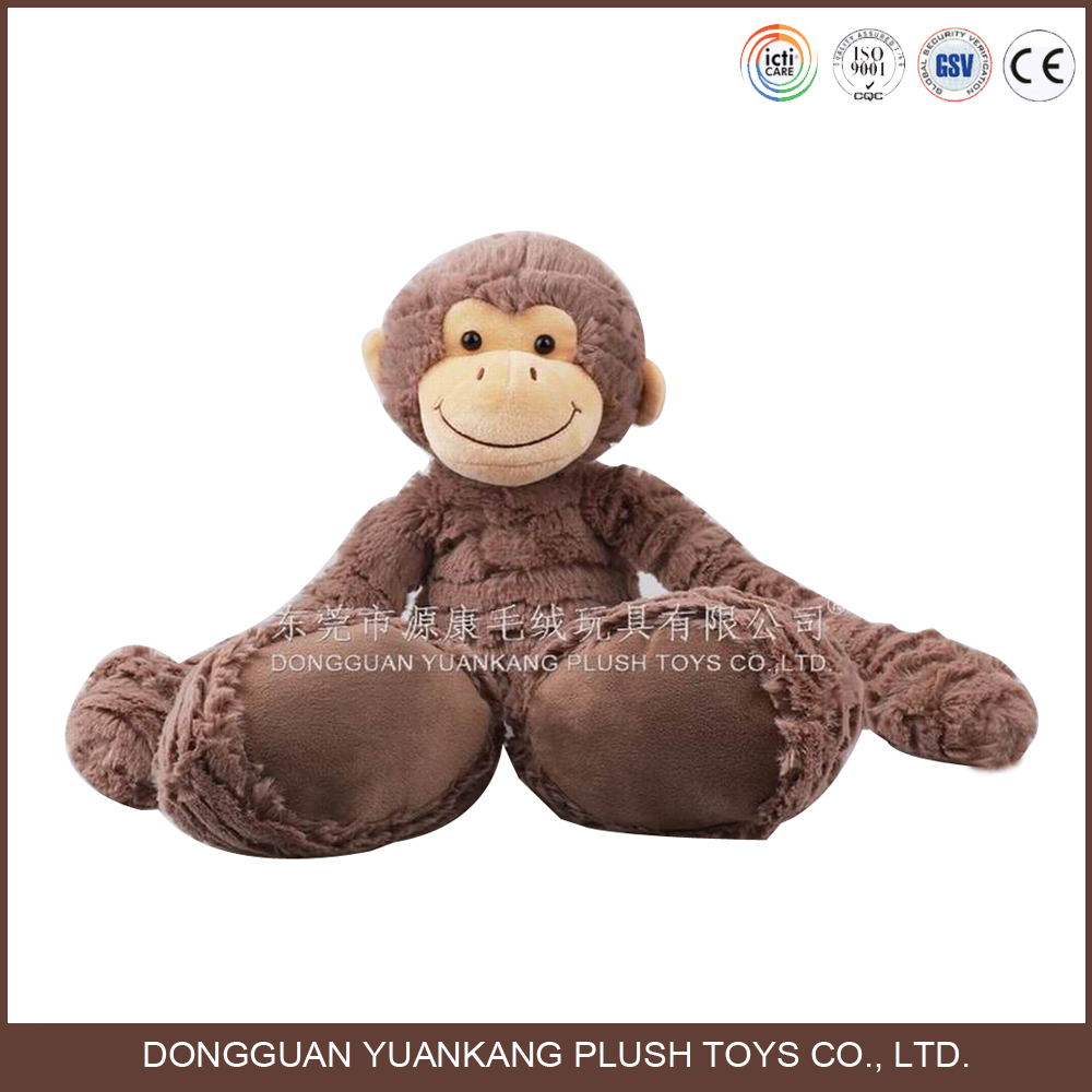 25cm Dark brown long arms and legs monkey plush toy
