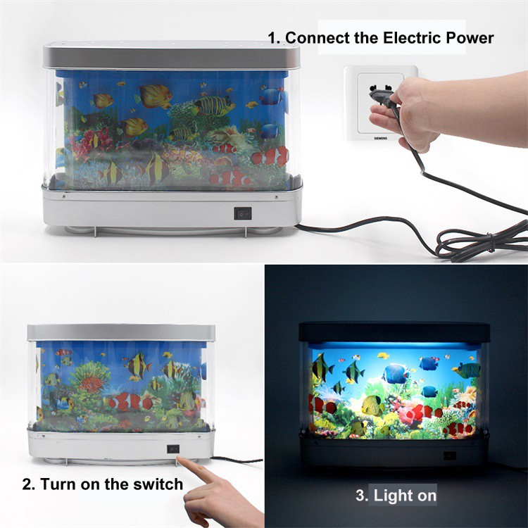 Living Room Bedroom Children Gift LED Aquarium Light 6W ABS Fish Tank LED  Lights Decorative Night. Living Room Bedroom Children Gift Led Aquarium Light 6w Abs Fish