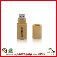 "1"" standard diameter round shape USB paper tube factory wholesale cardboard packing tubes for USB"