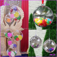 Christmas Tree Decor Ornament Ball Type Box Transparent Plastic Craft Christmas plastic ball