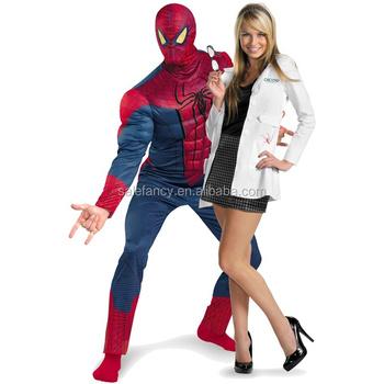 Spider Man u0026 Gwen Couples Costume Superhero halloween costume couple QAWC-2313  sc 1 st  Alibaba & Spider Man u0026 Gwen Couples Costume Superhero Halloween Costume Couple ...