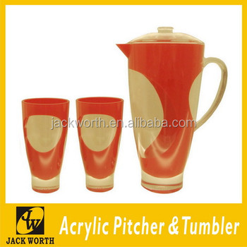 Acrylic Tumblers with Infusion Pitcher