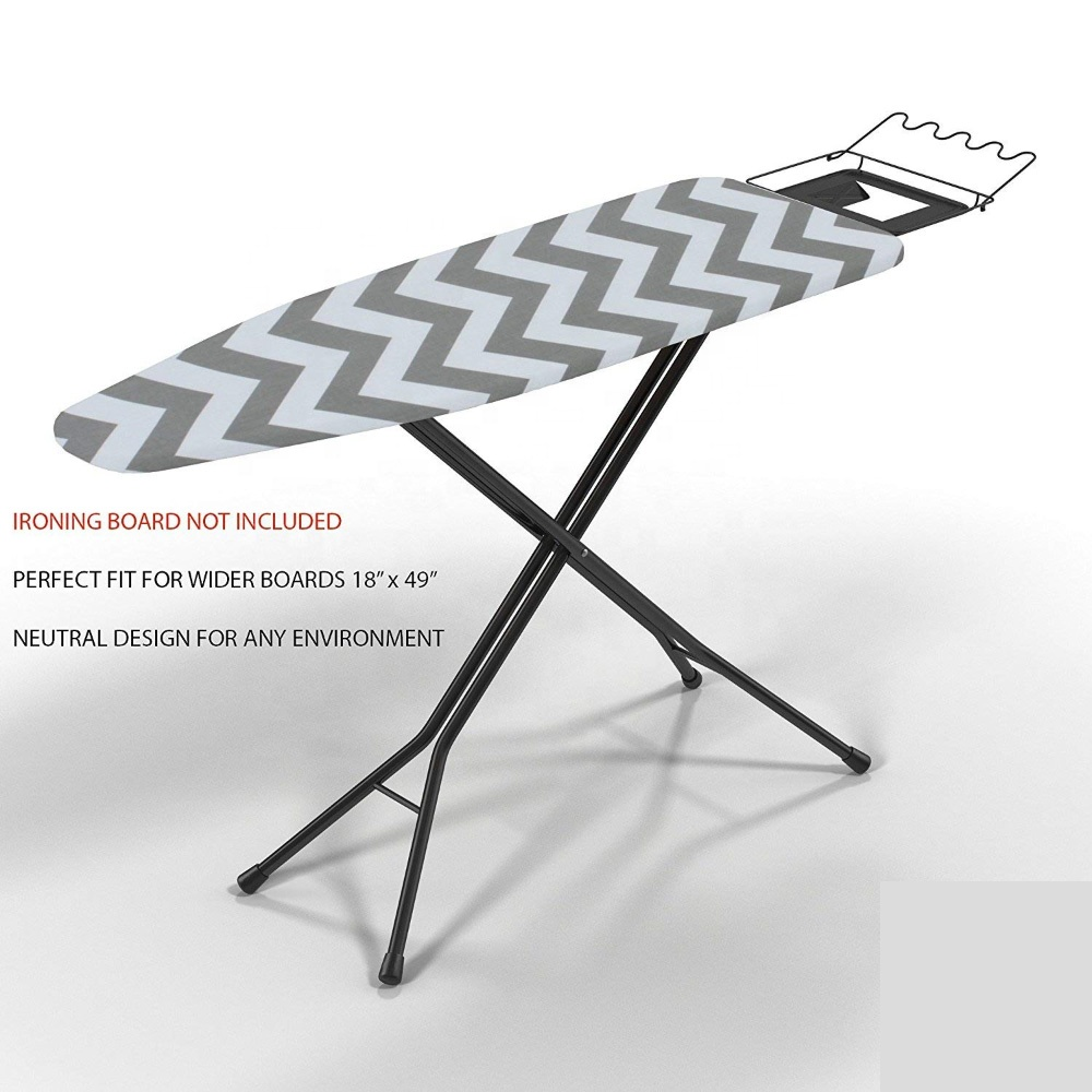 """Silicon Coated Ironing Board Cover 18/"""" X 49/"""" 6 Items 1 Extra Wide Extra Padd..."""