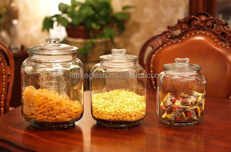 Frascos de vidrio de cristal grande cookie jar cocina 3 for Vasi di vetro ikea