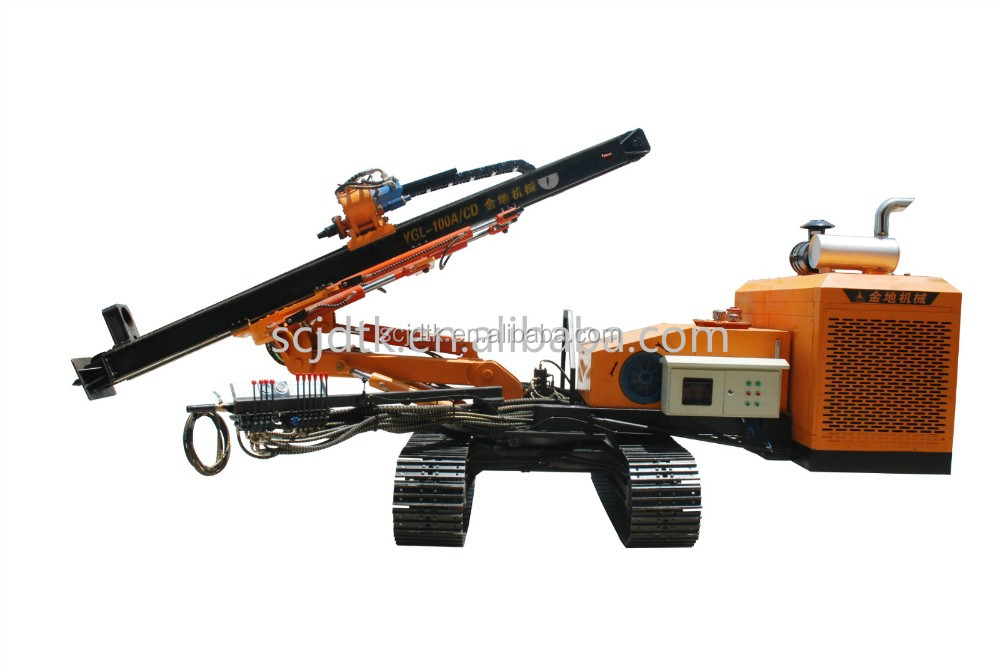 YGL-100A/C core drill machine crawler rig for horizontal drilling Prospecting drilling