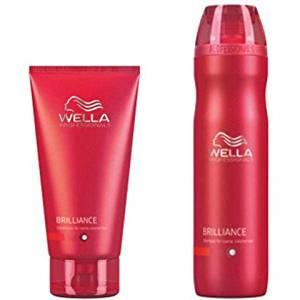 Wella Professionals Brilliance Duo For Coarse Coloured Hair- Shampoo & Conditioner
